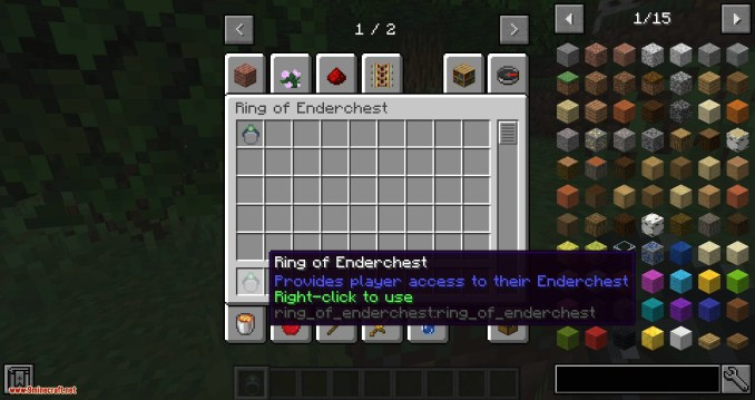 Ring of the Enderchest mod for minecraft 02