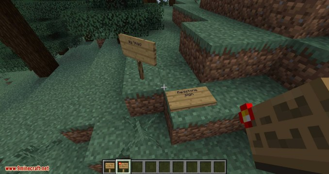Sign Buttons mod for minecraft 02
