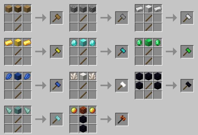 Vanilla Hammers mod for minecraft 21