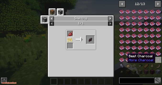 More Charcoal mod for minecraft 02