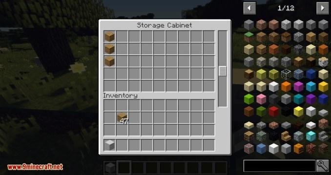 Storage Cabinet mod for minecraft 03