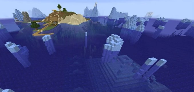Village Island Surrounded by Ice Seed