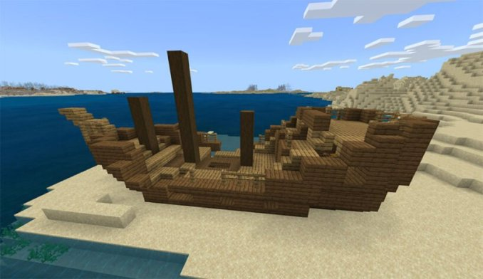 Surface Shipwreck, Coral, Desert Village, & Temple: 343145341
