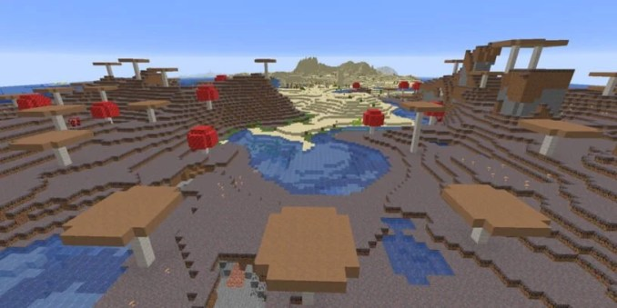 Mushroom Fields & Desert with Rivers: 305781276485679662