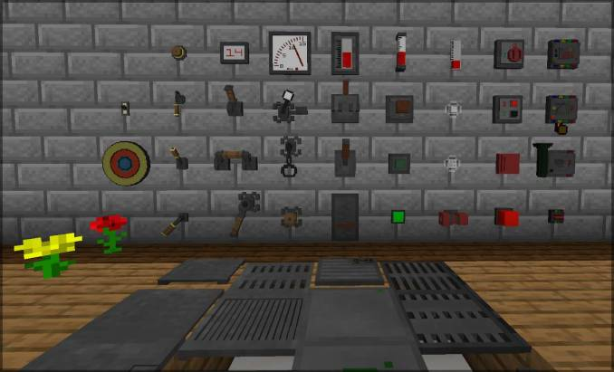 Redstone Gauges and Switches mod for minecraft 21