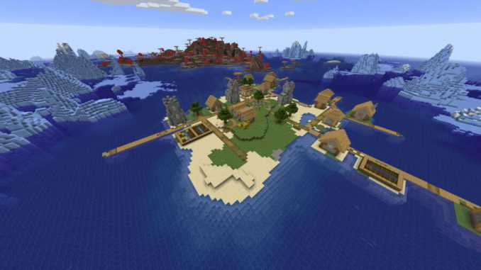Village Near Mushroom Island, Surrounded by Ice
