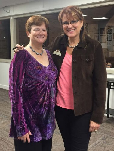 l-r Gina Greenlee, President-Elect and Nancy Roelfsema, Outgoing President