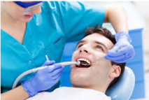Man undergoing dental treatment