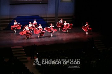 jubilee, 50th anniversary, World Mission Society Church of God, WMSCOG, Church of God, Mother's love, global harmony, key to harmony, orchestra, strings, amazing grace, dancing, NJPAC, latin dancers