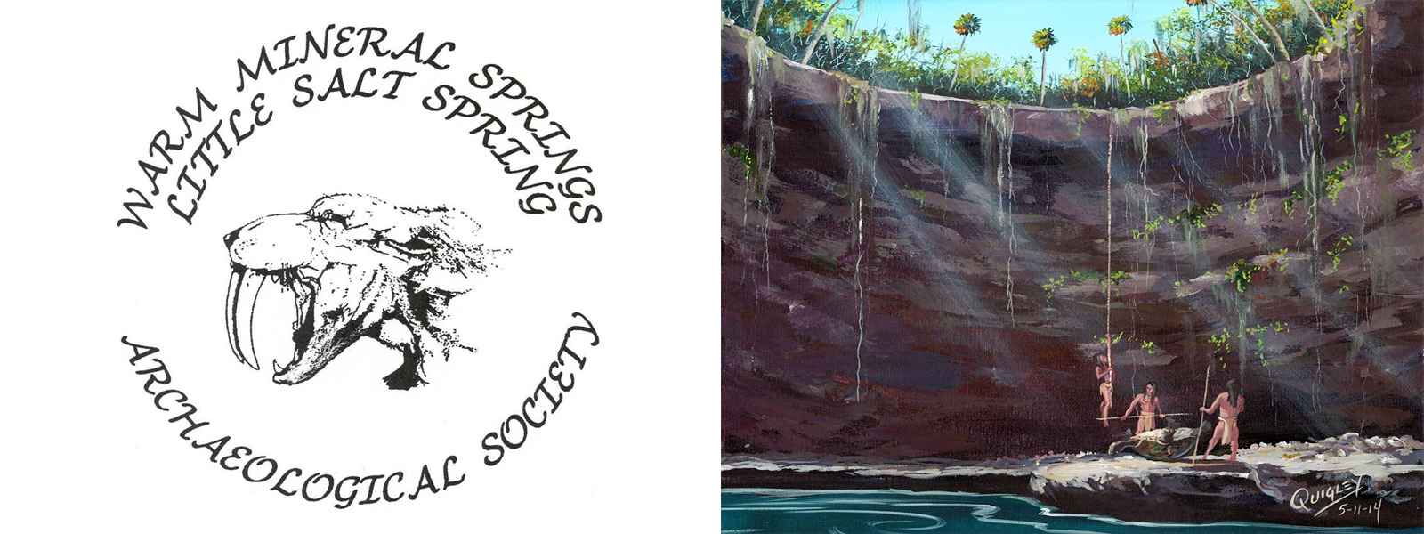WARM MINERAL SPRINGS/LITTLE SALT SPRING ARCHAEOLOGICAL SOCIETY [painting by Dean Quigley]