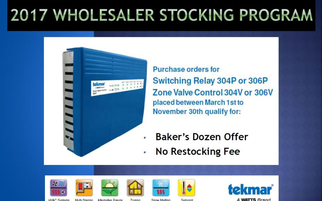 tekmar Wholesaler stocking program