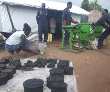 South Sudan refugees embrace Briquettes to replace charcoal