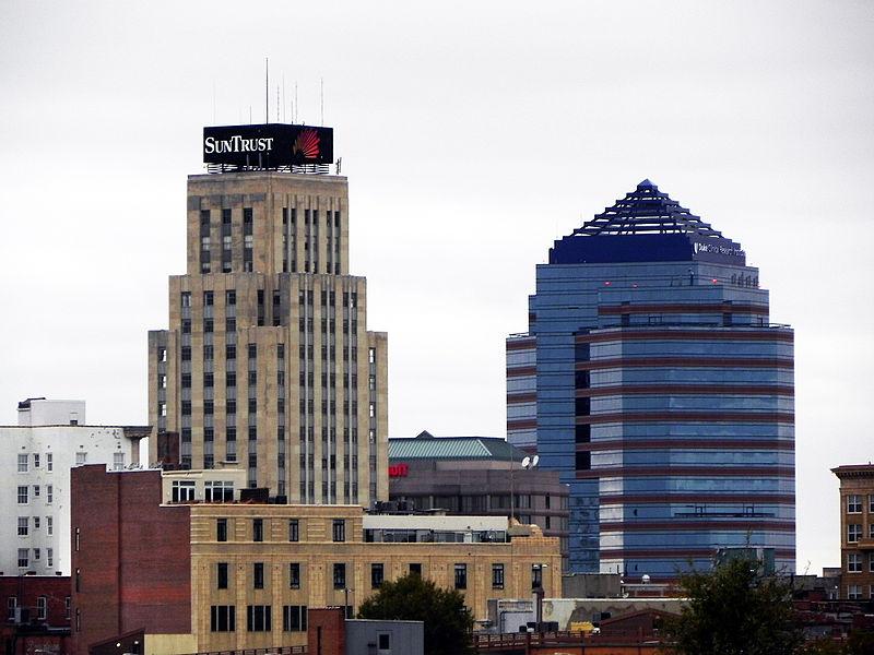 Durham NC downtown skyline_108382
