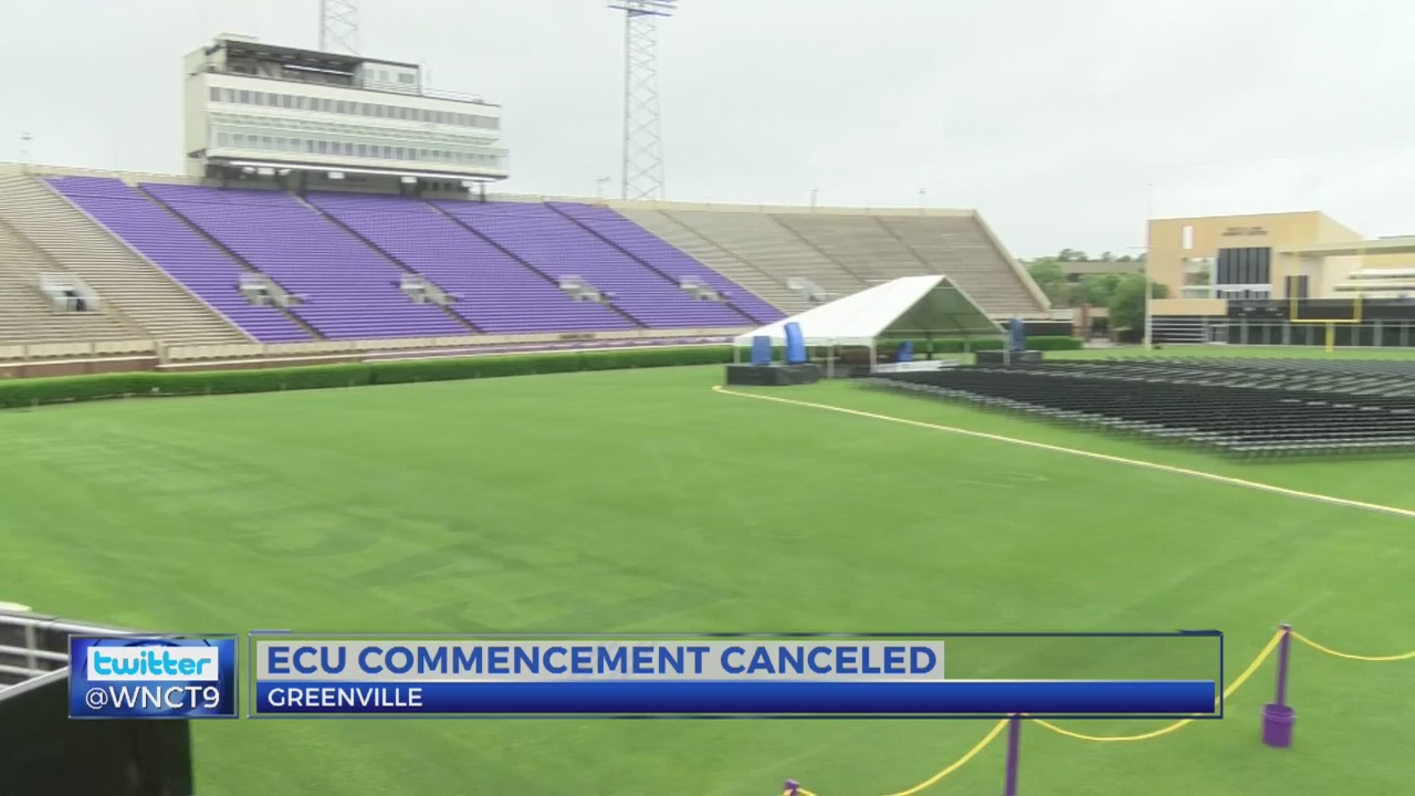 ECU's Outdoor Commencement Ceremony canceled