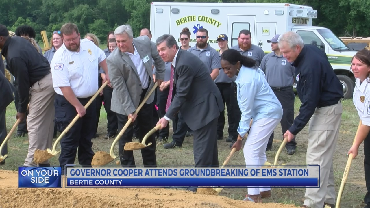 Gov. Cooper visits Bertie County for groundbreaking ceremony