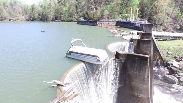 Boat On Edge of NC Dam 1