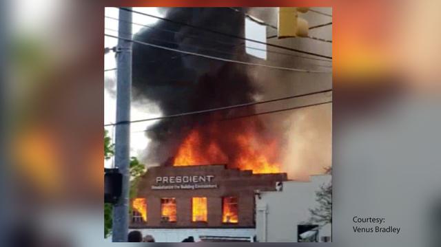 Durham Explosion Close Up
