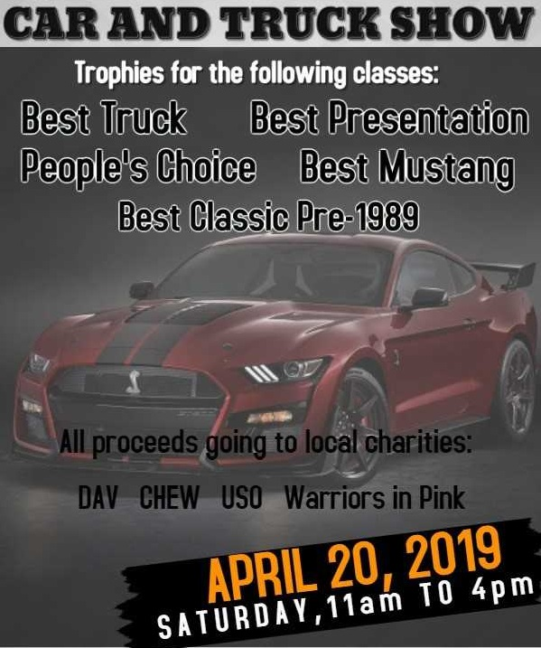 Sanders Ford Charity Car Truck Show April 20, 2019