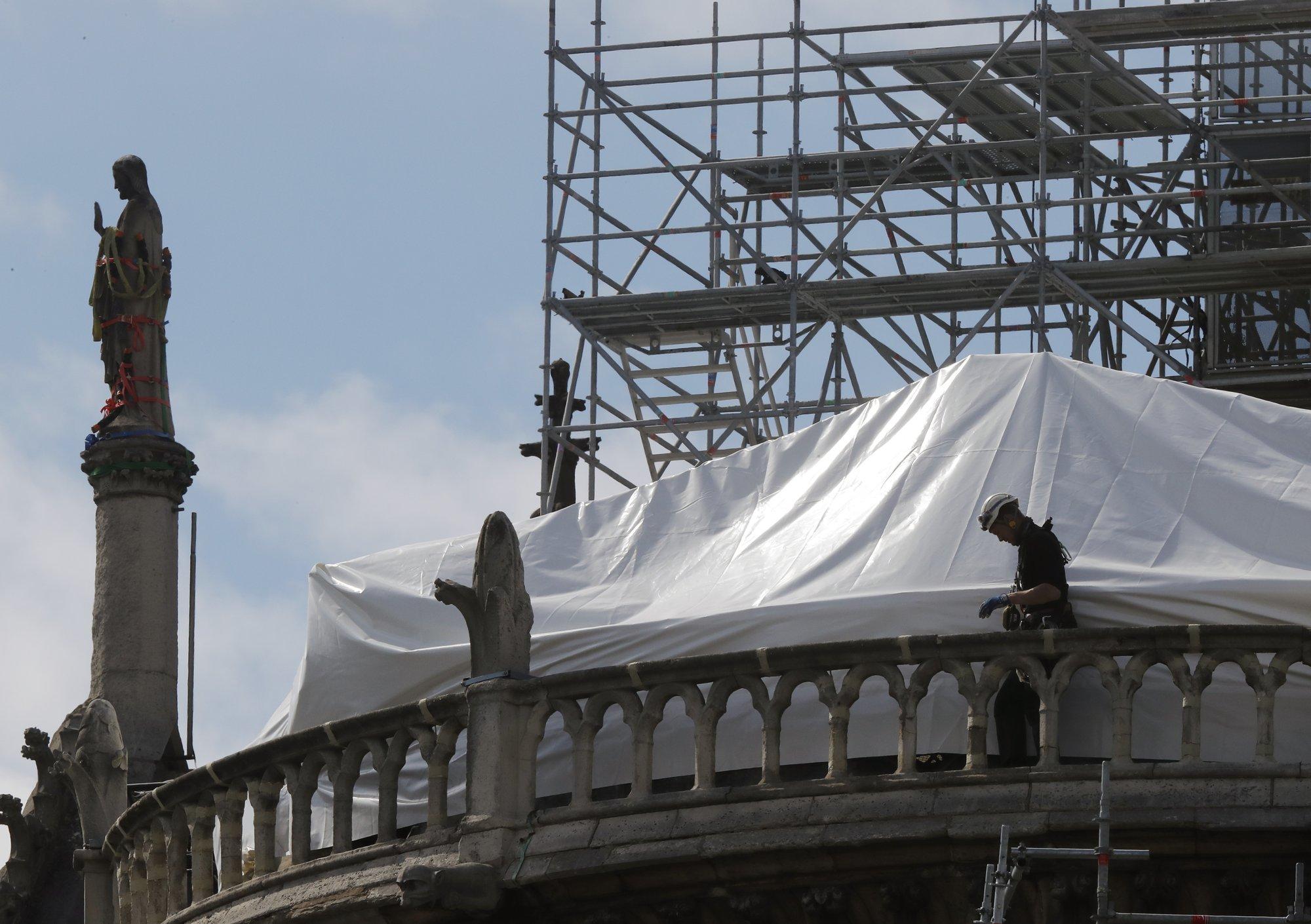 April 2019 Notre Dame Cathedral Restoration