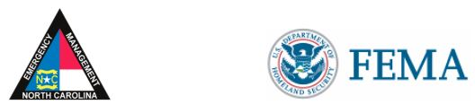 NC Emergency Management and FEMA Logos