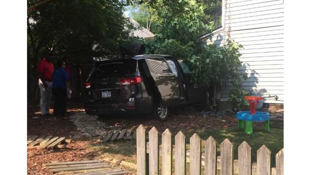 Raleigh Van Crashes Into Home 1