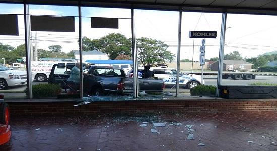 Crash damages windows at Washington business | WNCT
