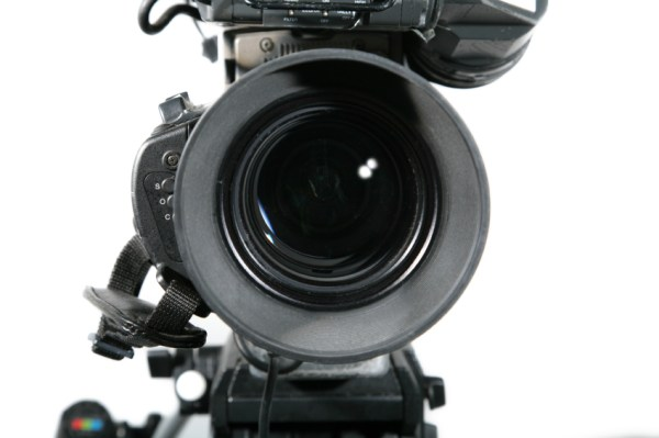 TV Studio Camera Lens Close Up