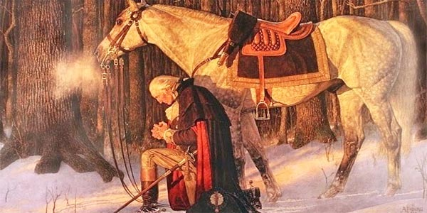 "George Washington in ""The Prayer at Valley Forge,"" by Arnold Friberg"