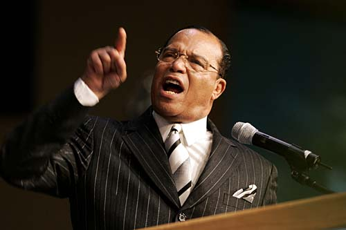 """Will Louis Farrakhan, leader of the Nation of Islam, who has openly called for his followers to 'stalk' and ' kill' certain cops, be branded an """"extremist"""" by Obama's new czar?"""
