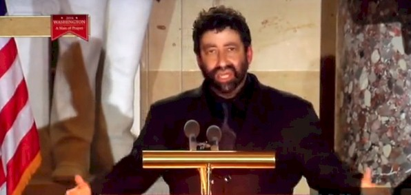 Best-selling author and Messianic Rabbi Jonathan Cahn at his congregation in New Jersey.