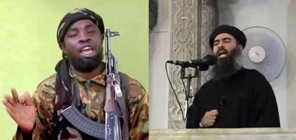 Boko Haram leader Abubakar Shakau and ISIS leader Abu Bakr al-Baghdadi