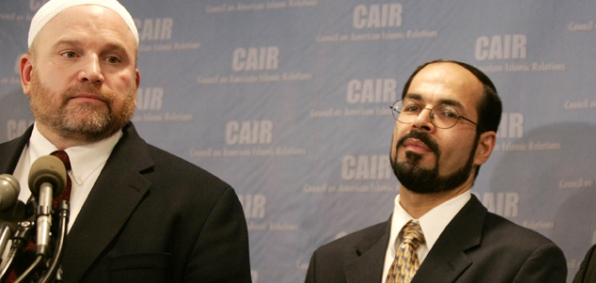 CAIR Communications Director Ibrahim Hooper with CAIR Executive Director and founder Nihad Awad