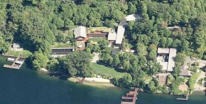 Microsoft founder Bill Gates' fortress home in Washington State.