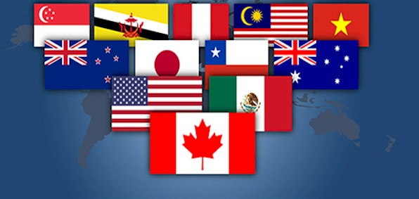 Flags of nations participating in TPP