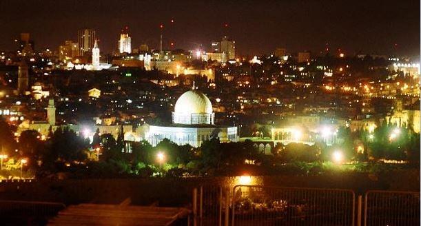 Jerusalem at night in CIA image