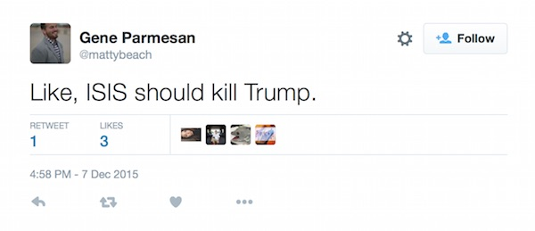 Image result for threats of killing trump