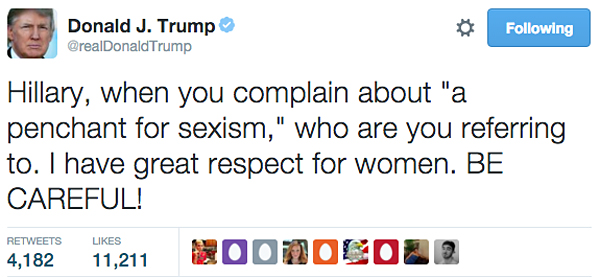 Image result for trump sexism