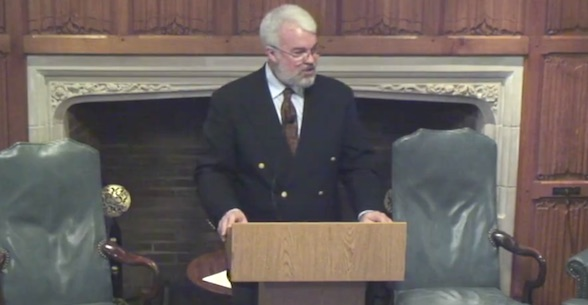 Joseph Lowry, associate professor, University of Pennsylvania (Photo: Yale Law School screenshot, 'Reading the Quran as Lawbook')
