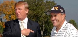 President Trump and his personal lawyer, former New York City Mayor Rudy Giuliani