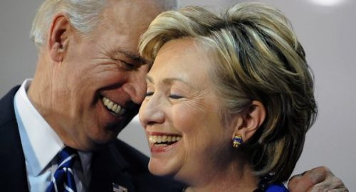 Former Vice President Joe Biden and Hillary Clinton