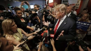 Trump and reporters