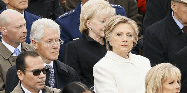 Bill and Hillary Clinton at President Trump's inauguration in January