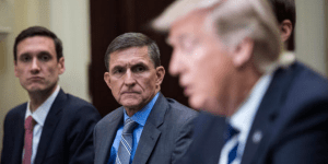 Former National Security Adviser Mike Flynn and President Trump