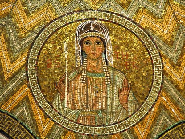 Esther, mosaic, Church of Hagia Maria Zion-The Dormition Church, Jerusalem
