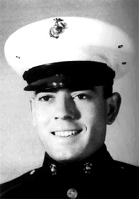 "Dan Rather as a ""Marine"" image appears several places online, credited with being provided by Dan Rather"