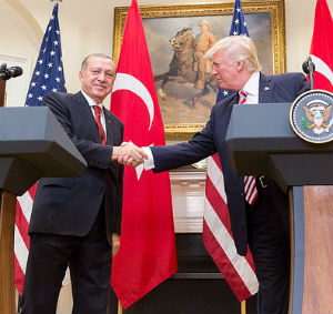 Turkish President Erdogan at the White House with President Trump May 16, 2017 (White House photo)