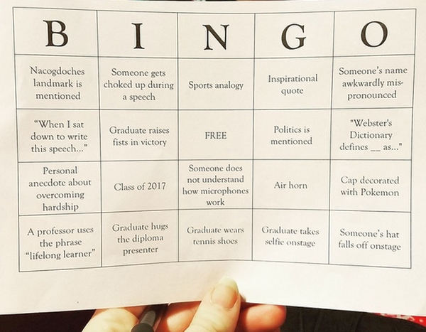 Graduate Bingo