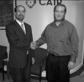 CAIR Executive Director Nihad Awad with Chris Gaubatz