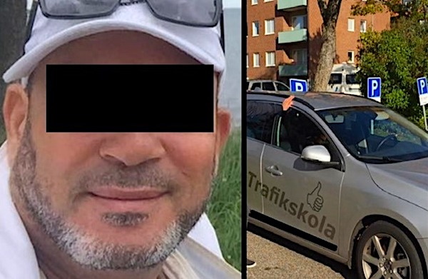 A Muslim driving instructor in Sweden is accused of sexually abusing six female students. (courtesy Fria Tider)