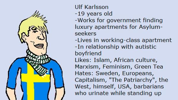 Modern-day Viking pillaging Sweden